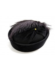 Woman hat with feather