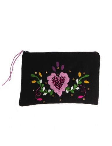 Hand embroidered case