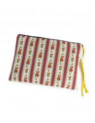 Hand-embroidered case with yellow flower