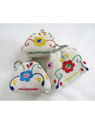 embroidered small coin purses