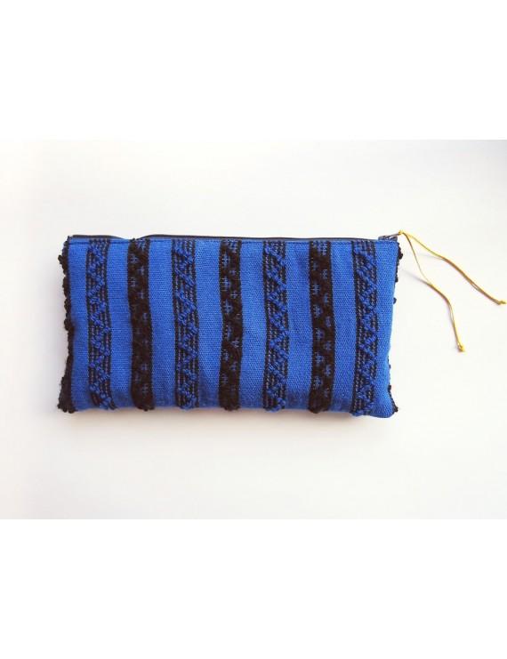Blue woven case
