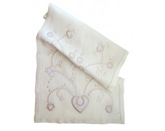 Linen table runner embroidered of Viana do Castelo