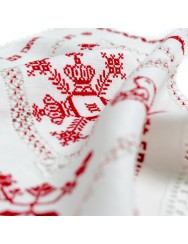 Love handkerchief - drawn thread work