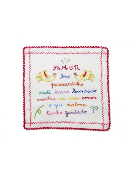 Small valentine handkerchief - birdie