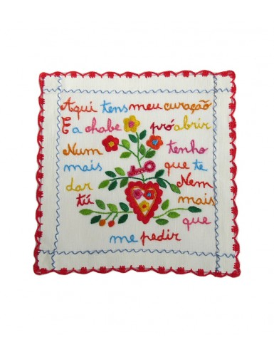 Small valentine handkerchief - here is my heart