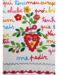 Small valentine handkerchief - here is my heart