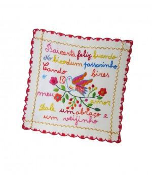 Small valentine handkerchief - letter