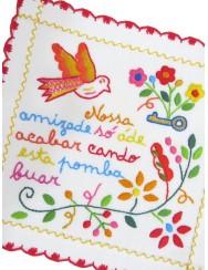 Small valentine handkerchief - our friendship
