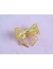 Ribbon bow-shaped pin
