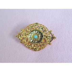 Pin with turquoise