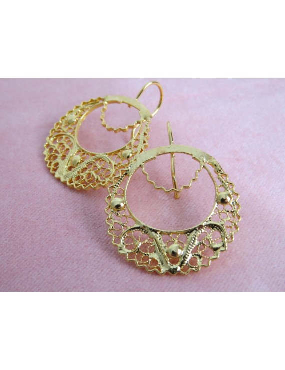 Viana's filigree earrings