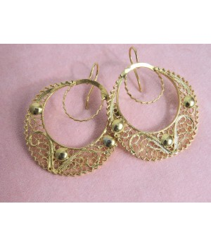Viana's filigree earrings - L