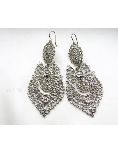Brincos à Rainha - Queen like earrings - silver