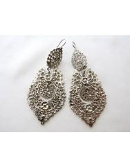 Brincos à Rainha - Queen like earrings - silver