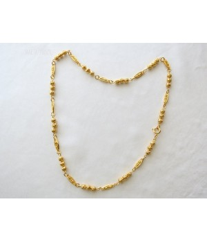 Braided chain necklace