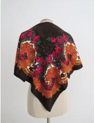 Traditional brown kerchief of Viana - vintage pattern