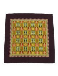Woollen headscarf or cachené - brown trim