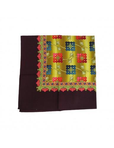 Woollen headscarf or cachené - geometric pattern