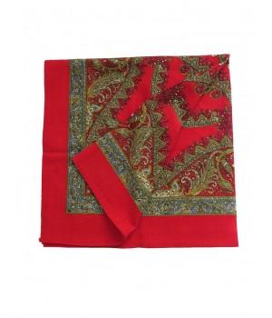 Woolen red kerchief
