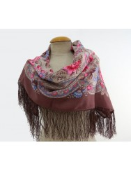 Old rose woolen kerchief