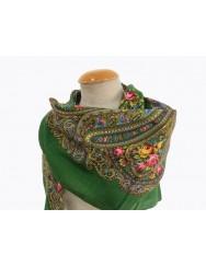 Green kerchief 100% wool