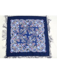 Blue kerchief 100% wool