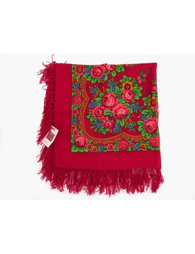 Red kerchief 100% wool
