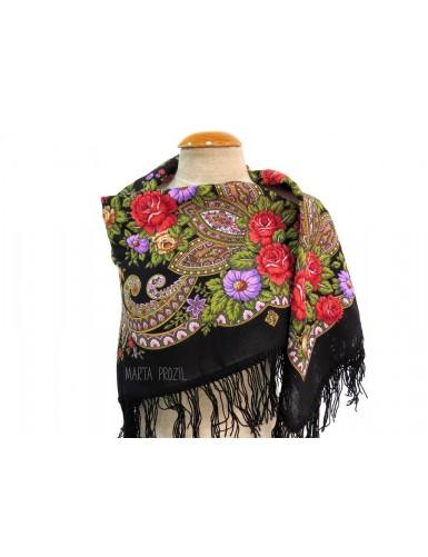 Black kerchief 100% wool