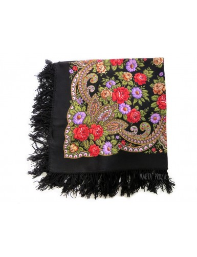Black kerchief 100% wool