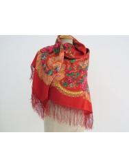 Woolen red kerchief of Viana