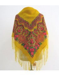 Woolen yellow kerchief