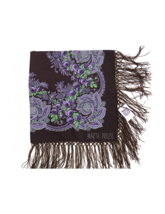 Woollen purple kerchief of Viana
