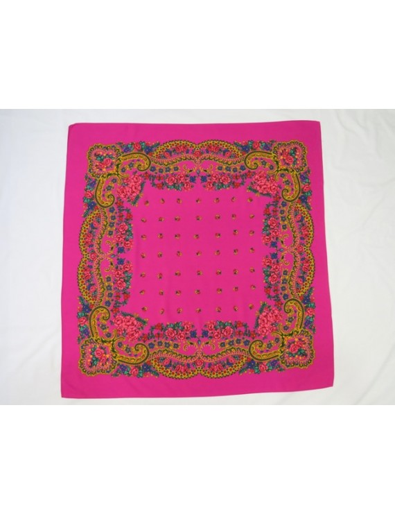 Fuchsia kerchief of Viana