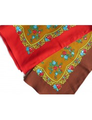 Cotton head scarf with red or brown frame