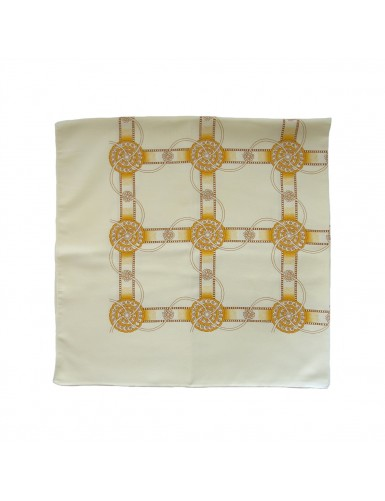 Cotton scarf with wheel pattern