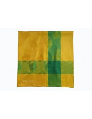 Natural silk scarf - yellow and green