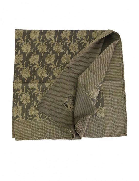 "Natural silk scarf in brown ""moka"" colour"