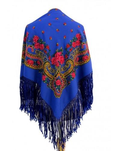 Viana scarf with silk fringe