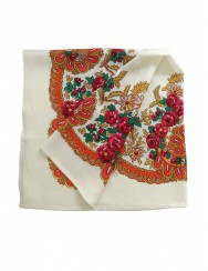 Traditional white kerchief of Viana - vintage pattern