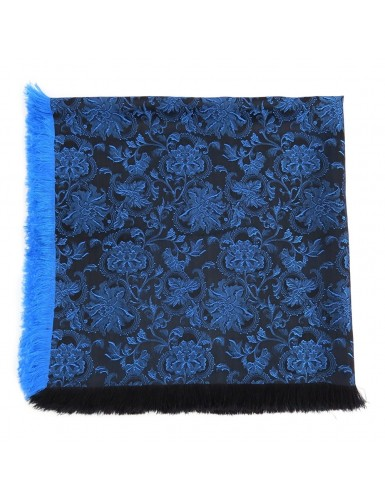 Mordoma scarf in blue brocade