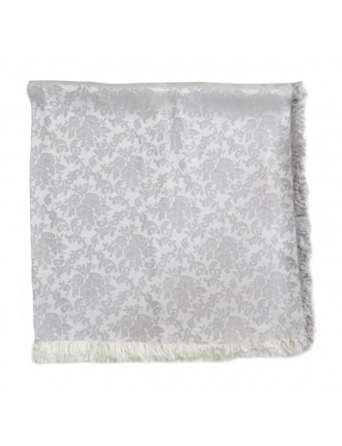Light gray brocade scarf