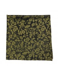 Black and golden brocade scarf