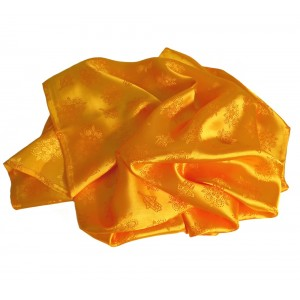 Roasted yellow satin scarf