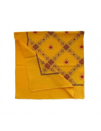 Toasted yellow cotton kerchief