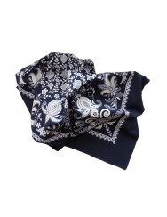 Blue cotton kerchief - floral