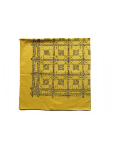 cotton kerchief - mustard yellow color