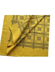 cotton kerchief - mustard yellow color