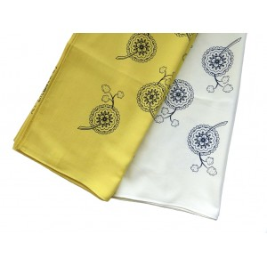 Cotton head scarf - rosettes