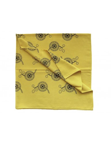 Cotton head scarf - rosettes