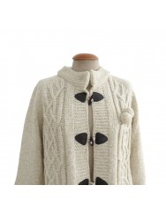 Beige knitted cardigan with Austrian knots